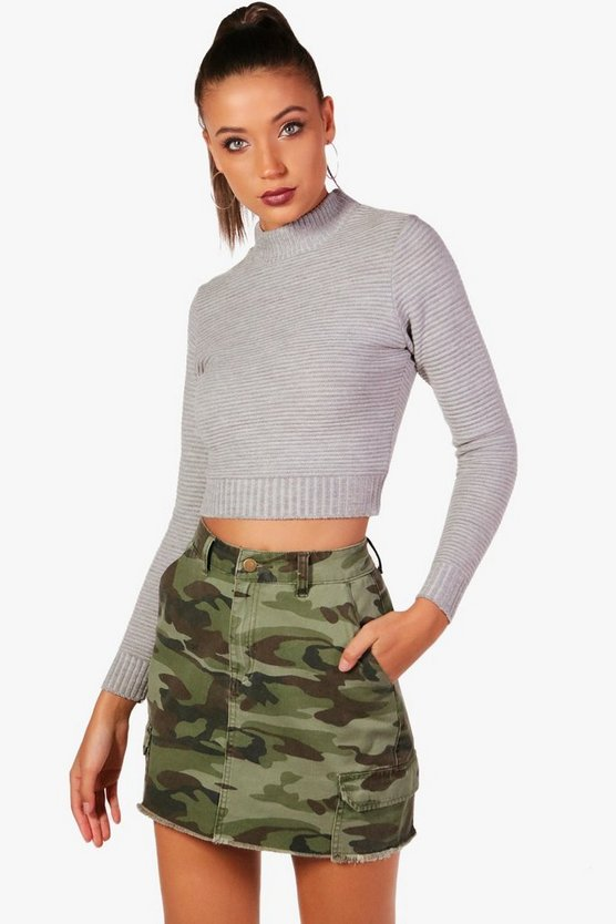 Tall Emily Rib Knit Crop Jumper