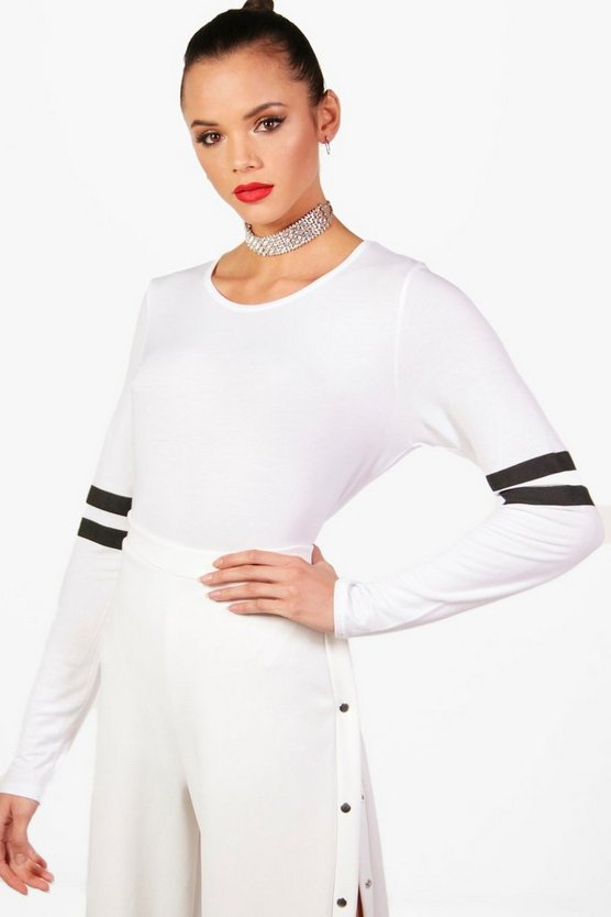 Tall Sarah Baseball Long Sleeve Top