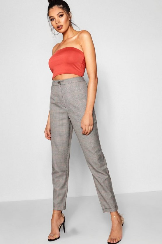 Tall Frances Checked Tapered Trouser