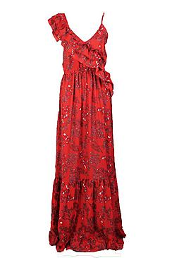 Tall Melody Asymmetric Floral Print Dress