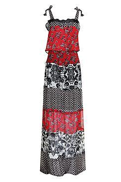 Tall Charlotte Mixed Print Maxi Dress