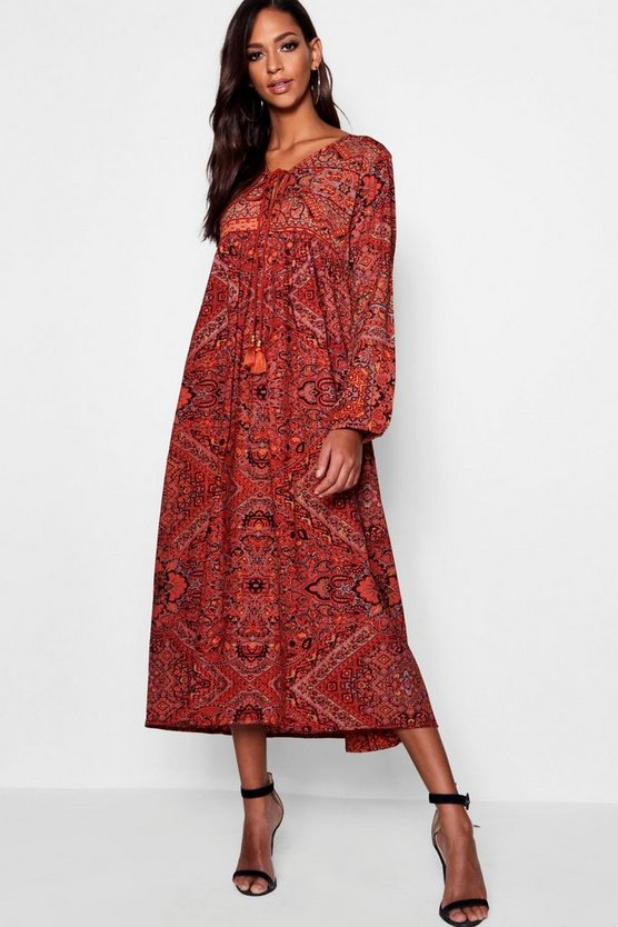Tall Paisley Print Maxi Dress