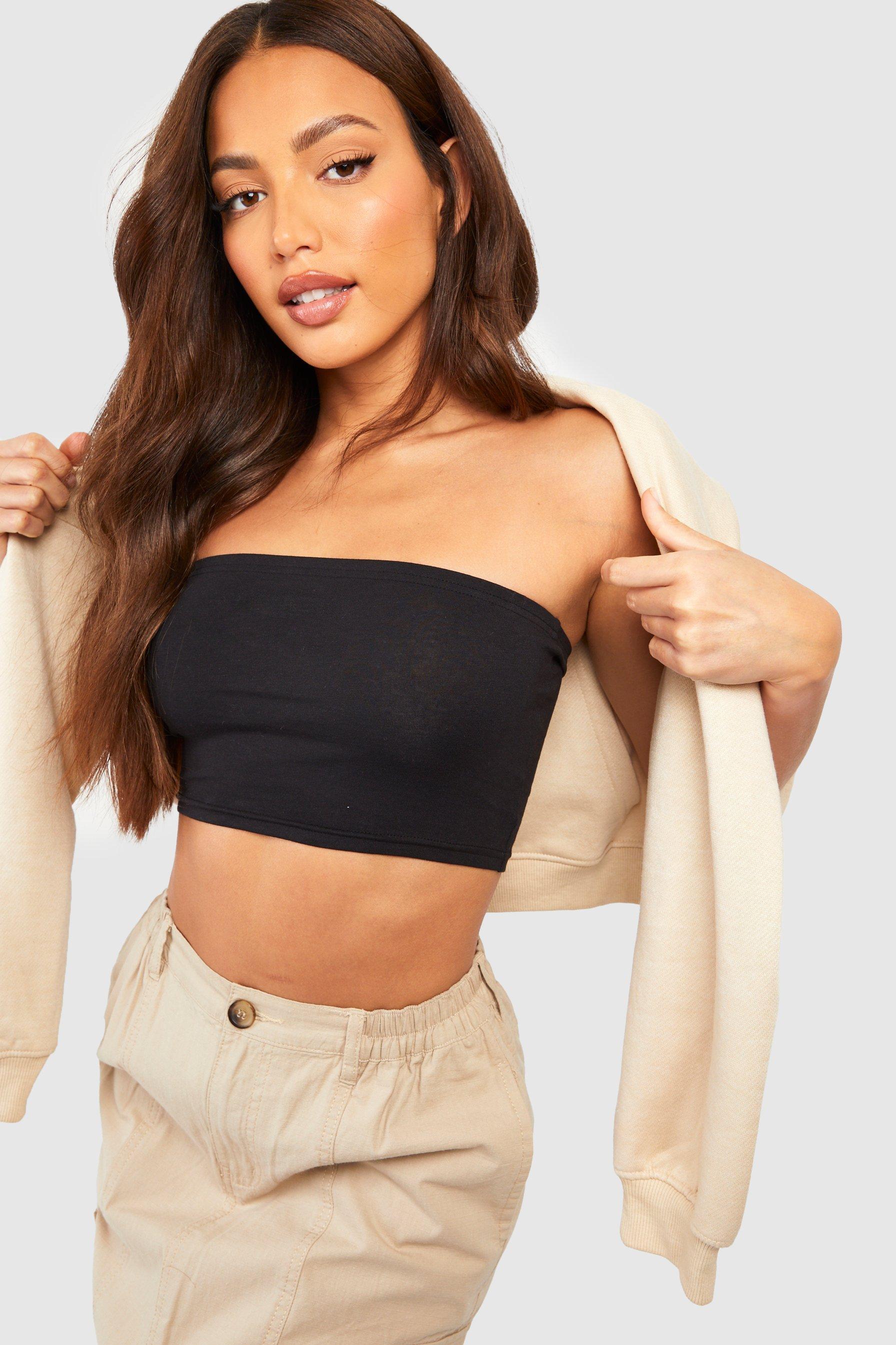 Womens Tall Jersey-Bandeau - schwarz - 36, Schwarz - Boohoo.com