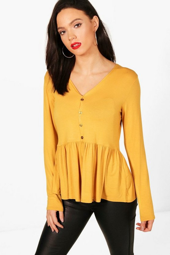 Tall Melody Button Through Top