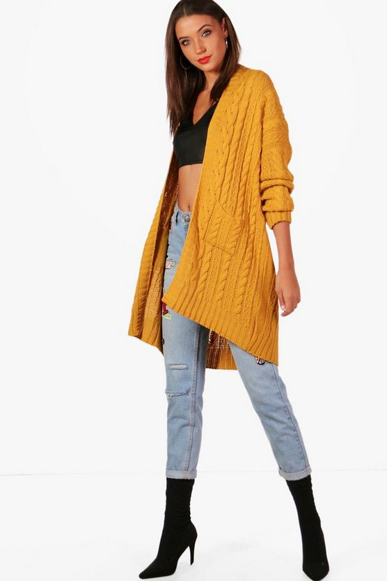 Tall Annie Slouchy Cable Cardigan