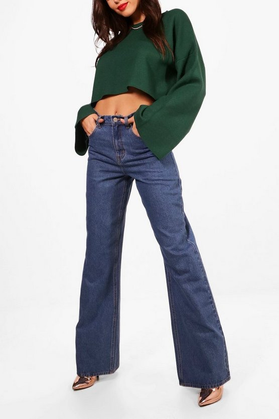 Tall Pip Mid Blue Wide Leg Jeans