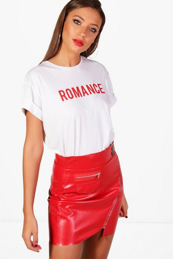 Tall Meg Romance Slogan T-Shirt