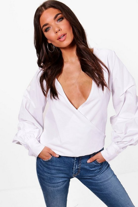 Tall Wrap Blouse