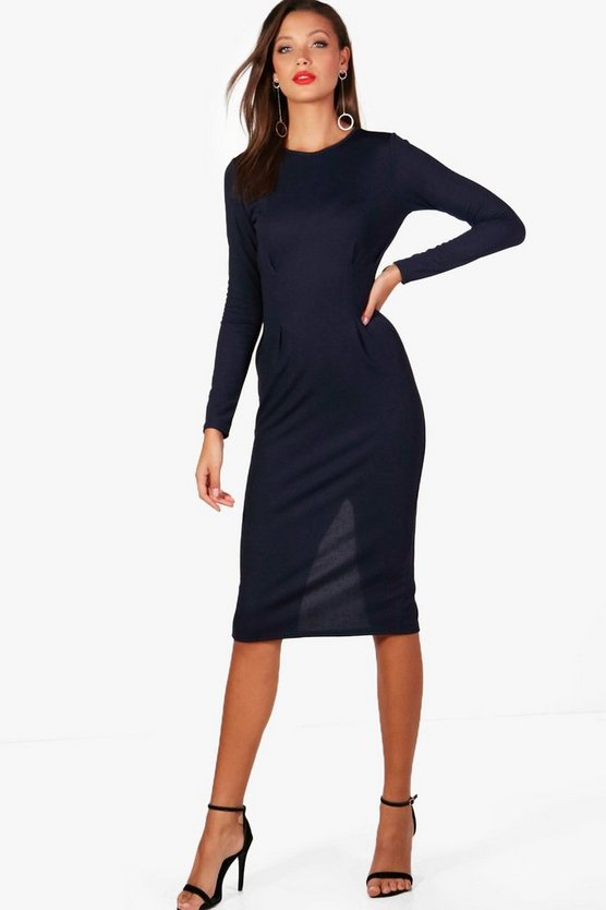 Tall Holly Belted Midi Dress
