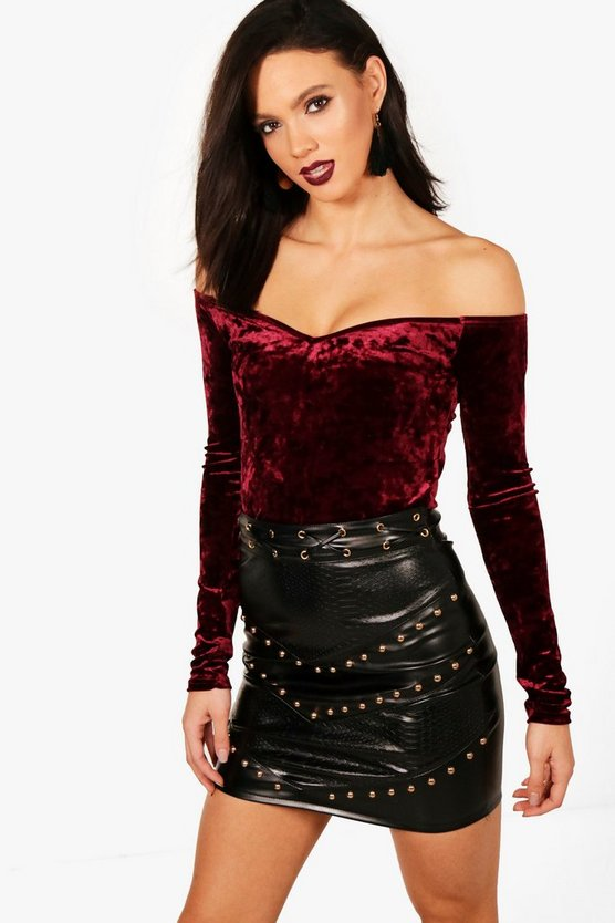 Tall Velvet Crop Top