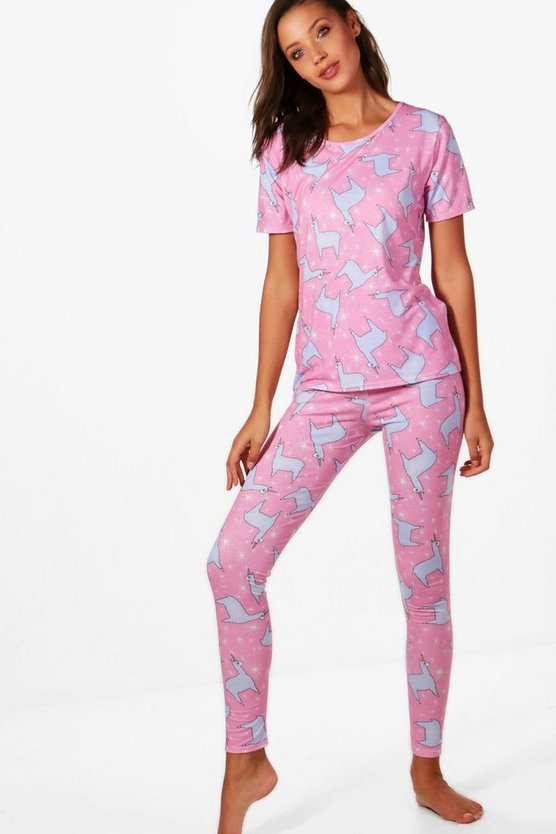 Tall Evie Lama Printed Pyjama Set