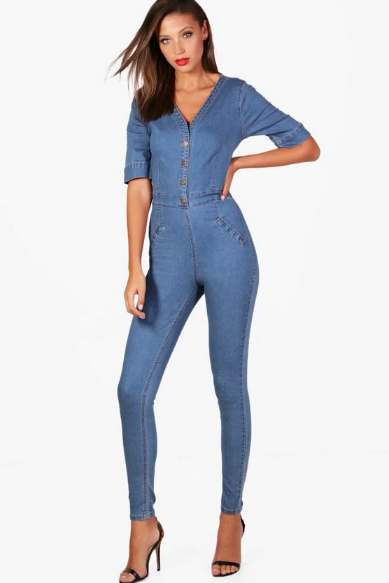 Tall Poppy Denim Jumpsuit