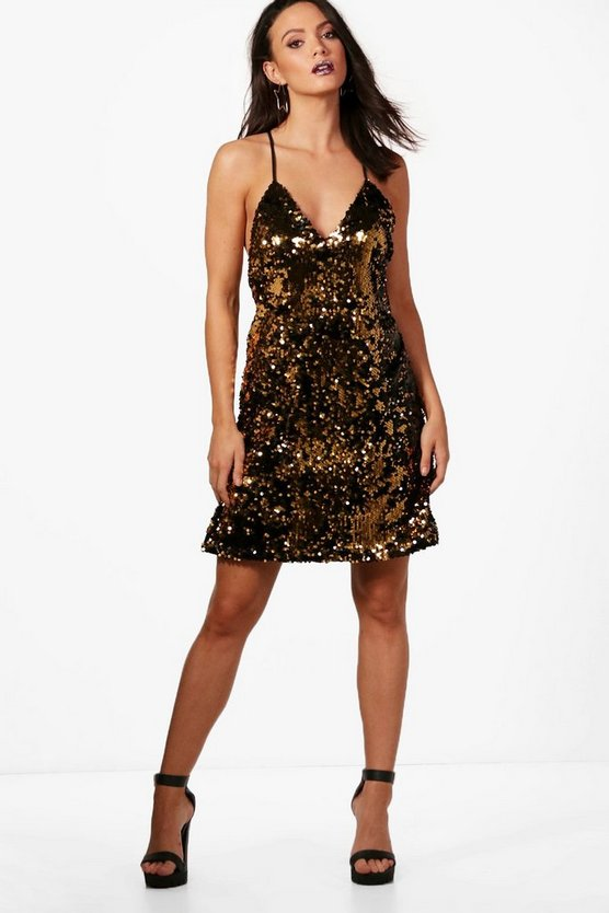 Tall Faye Sequin Mini Dress