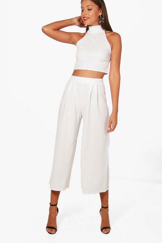 Tall Laura High Neck Top & Culotte Co-ord