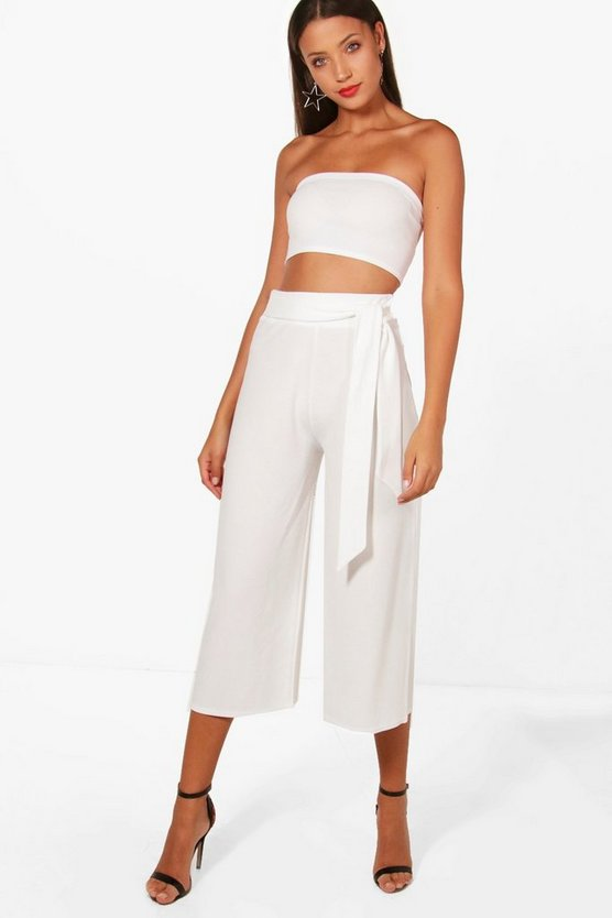 Tall Lizzie Belted Culotte & Bandeau Co-ord