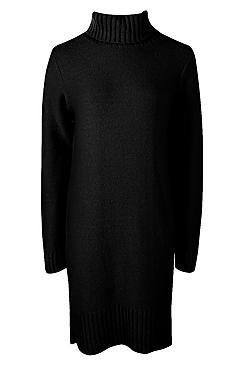 Tall Soft Knit Roll Neck Jumper Dress