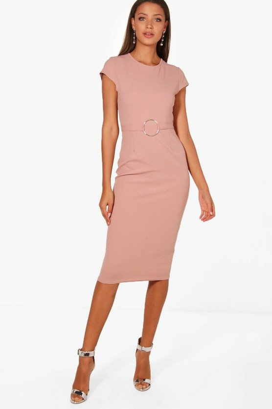 Tall Zoey Buckle Detail Midi Dress