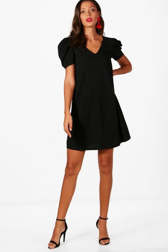 Tall Louisa Puff Sleeve Dress