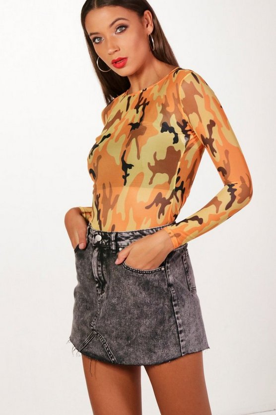 Tall Lara Acid Wash Denim Mini Skirt