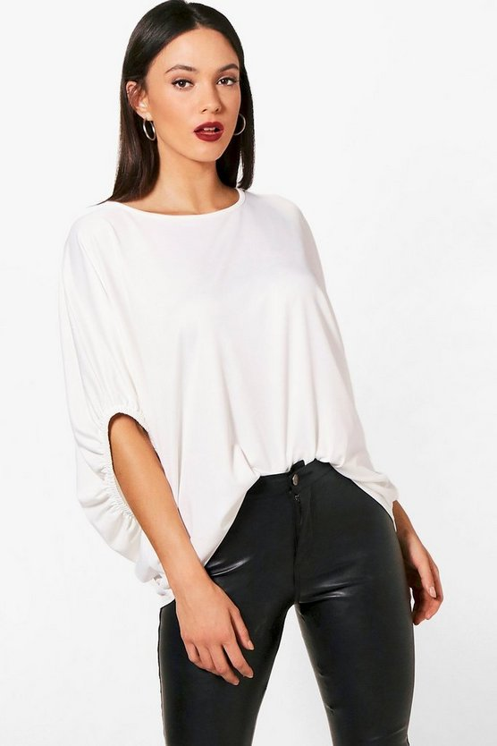 Tall Mila Elasticated Sleeve Tee