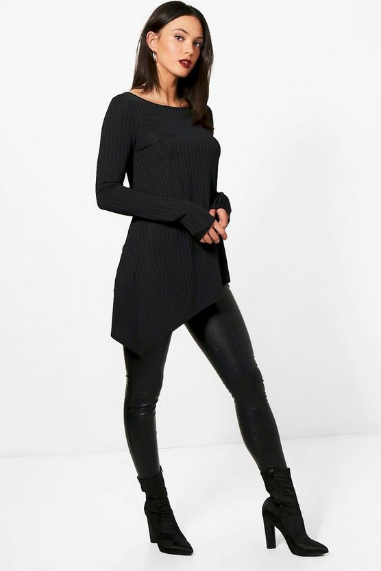 Tall Emily Wide Ribbed Long Sleeve Top