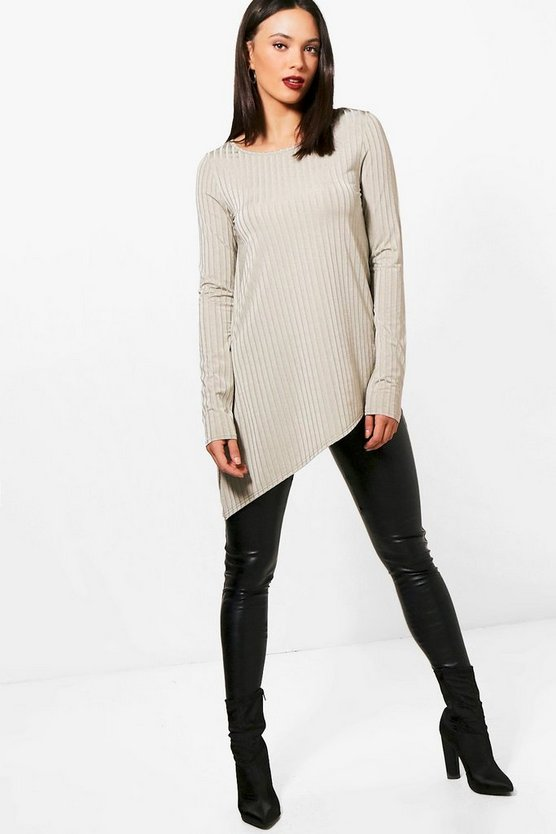 Tall Wide Ribbed Long Sleeve Top