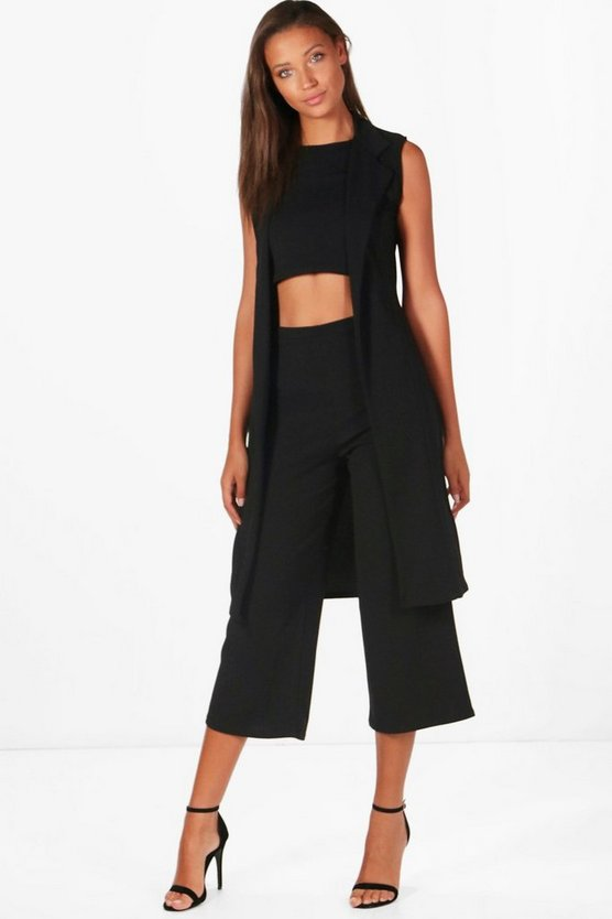 Tall Millie 3 Piece Crop Culotte and Duster Co-Ord Set