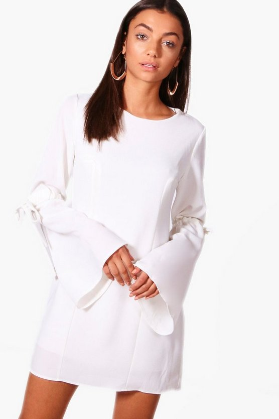 Tall Sophia Tie Sleeve Panel Woven Shift Dress