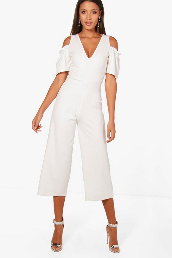 Tall Emily Cold Shoulder Culotte Jumpsuit