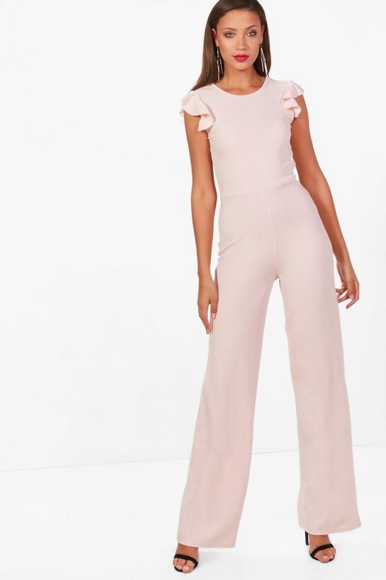 Tall Alyssa Ruffle Sleeve Wide Leg Jumpsuit