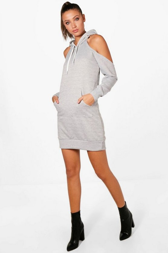 Tall Amy Cold Shoulder Sweat Dress