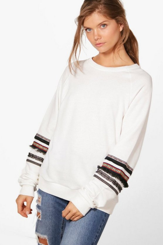 Tall Priya Trim Sleeve Sweat