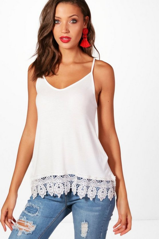 Tall Holly Crochet Lace Hem Cami