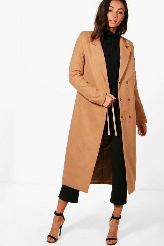 Tall Longline Wool Coat