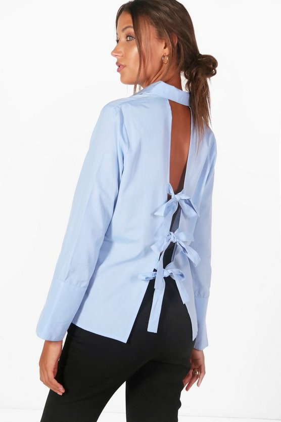 Tall Ivy Bow Back Shirt