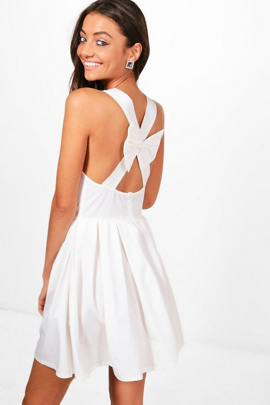 Tall Rachel Bow Back Detail Dress