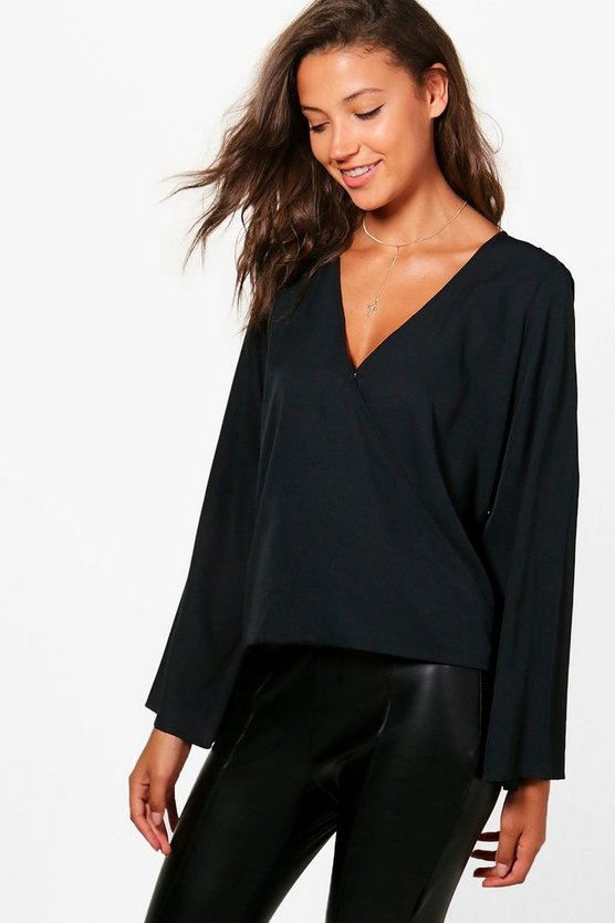 Tall Lola Wrap Front Top