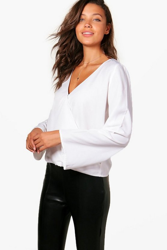 Tall Wrap Front Top