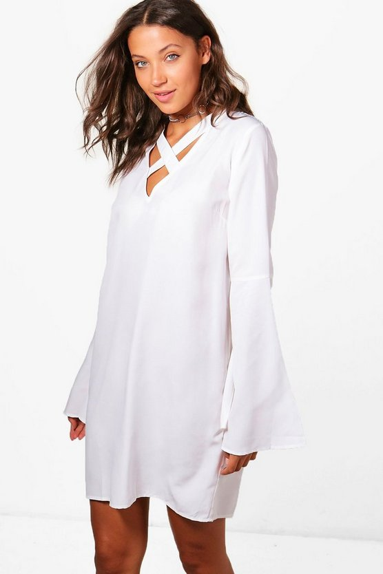 Tall Carly Cross Front Shift Dress