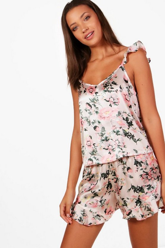 Tall Mia Ruffle Cami & Shorts Nightwear Set
