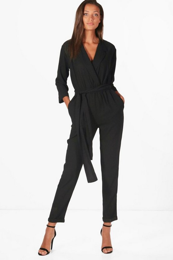 Tall Holly Collar Wrap Jumpsuit