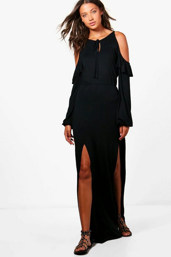 Tall Bella Cold Shoulder Maxi Dress
