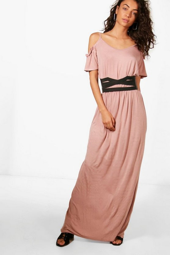 Tall Amy Frill Sleeve Maxi Dress