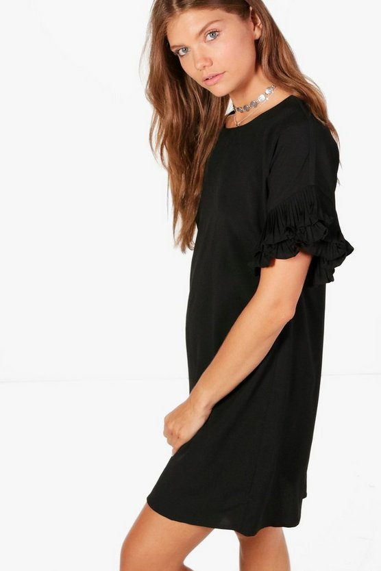 Tall Beth Frill Sleeve Dress