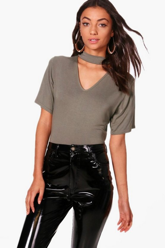Tall Esme Choker Crop Tee