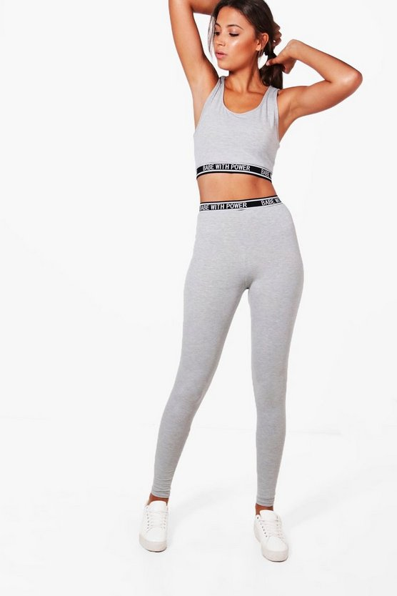Tall Sophie Crop And Legging Lounge Set