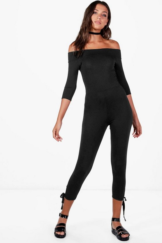 Tall Zoe Off Shoulder Lounge Jumpsuit
