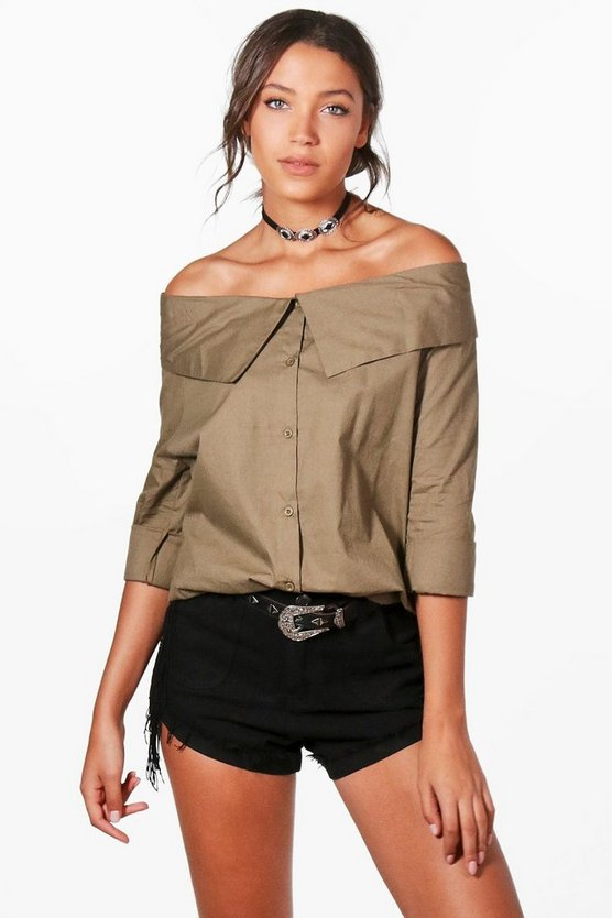 Tall Avery Off The Shoulder Shirt
