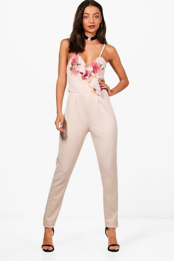 Tall Charlie Floral Top Jumpsuit