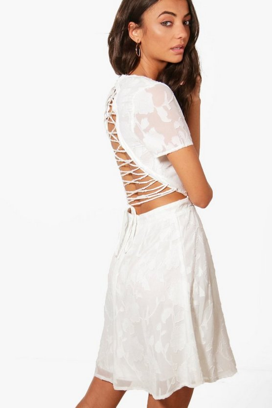 Tall Lace Back Skater Dress